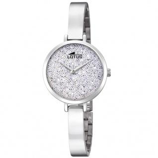 LOTUS 18561-1 Uhr Damenuhr Edelstahl Silber