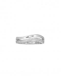 XENOX XS1479-54 Damen Ring Secret Circle Silber Weiß 54 (17.2)