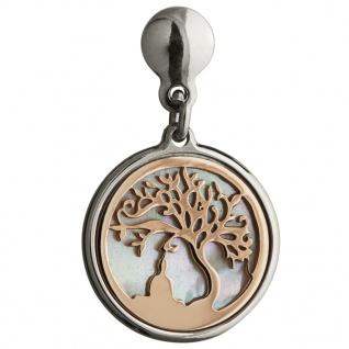 GOOIX 931-06277 Damen Ohrringe Baum Buddha Bicolor Rose Weiß