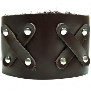 CJBB1911 Herren Armband Leder braun 22, 5 cm