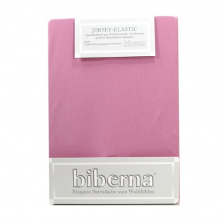 Biberna 77866-332 Jersey Elastic Spannbetttuch Lila 120x200 - 130x220