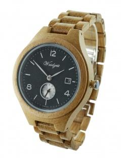 Waidzeit YK02 Barrique Riesling Uhr Herrenuhr Holz Datum Braun