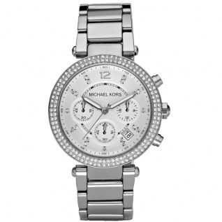 Michael Kors MK5353 PARKER Chronograph Uhr Damenuhr Edelstahl silber