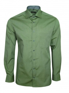 Eterna Herren Hemd Langarm Modern Fit Hemden 3070/46/X157 Grün M/40