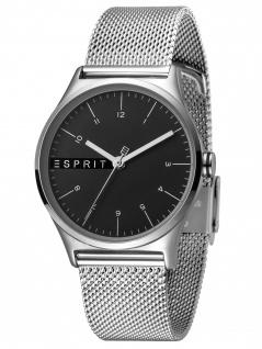 Esprit ES1L034M0065 Essential Black Silver Mesh - L Damenuhr Edelstahl