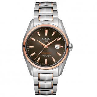 ROAMER 210633 SRGM3 Automatik Searock Uhr Herrenuhr Datum silber