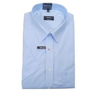 Eterna Herrenhemd Kurzarm 1100/10/K198 Comfort Fit Hellblau Gr. XL/43