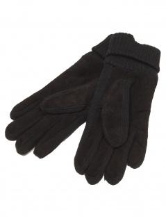 Esprit Damen Handschuhe Knit suede gloves Größe S Schwarz - Vorschau 2