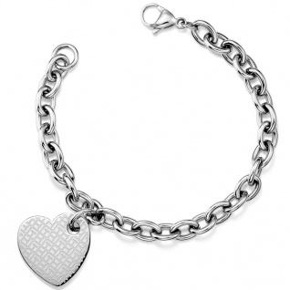 Tommy Hilfiger Damen Armband Herz CLASSIC SIGNATURE Edelstahl 19, 5 cm