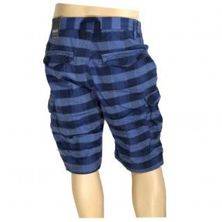 Authentic Style Herren Bermuda Hose Shorts Blau kariert Gr. 34 - Vorschau 3