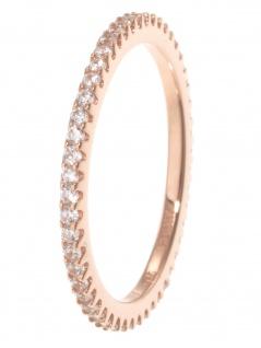 gooix 943-06727-540 Damen Ring Sterling-Silber 925 Rose weiß 54 (17.2)