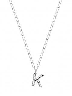 XENOX XS4150W/K Damen Collier Buchstabe K Silber 925 Silber 45 cm