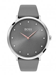 Hugo Boss 1502413 JILAN Uhr Damenuhr Lederarmband Grau