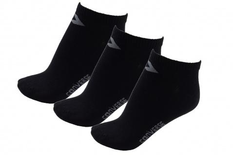 Converse Damen Socken Low Cut 3er Pack Füßlinge Größe 39-42 Schwarz
