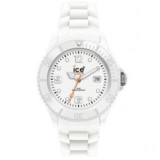 Ice-Watch SI.WE.U.S.09 Damenuhr Unisex Silikonband 50m Datum weiß