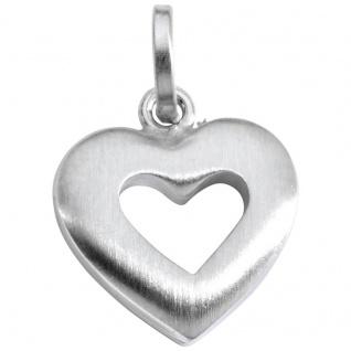 Basic Silber SL28 Damen Anhänger Herz Silber
