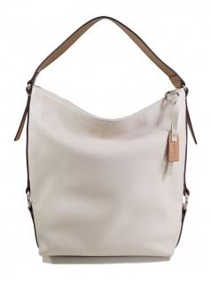 Esprit Damen Handtasche Tasche Henkeltasche Cheryl Hobo Weiß