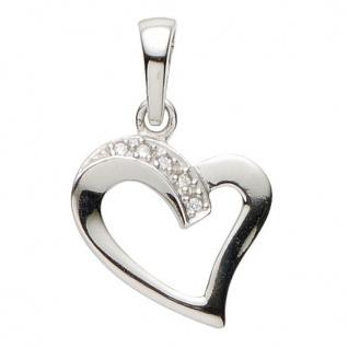 Basic Silber 21.1172S Damen Anhänger Herz Silber Zirkonia weiß