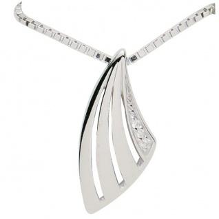 Basic Silber 21.2344 Damen Collier Silber Zirkonia weiß 42 cm