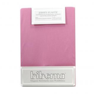 Biberna 77866-324 Jersey Elastic Spannbetttuch Flieder 180x200 200x220