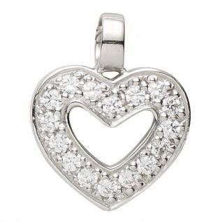 Basic Silber 21.1123S Damen Anhänger Herz Silber Zirkonia weiß