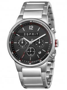 Esprit ES1G025M0065 Equalizer Black Silver MB Herren Edelstahl Chrono