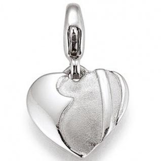 Basic Silber 22.VX429 Charms Damen Charm Silber Herz