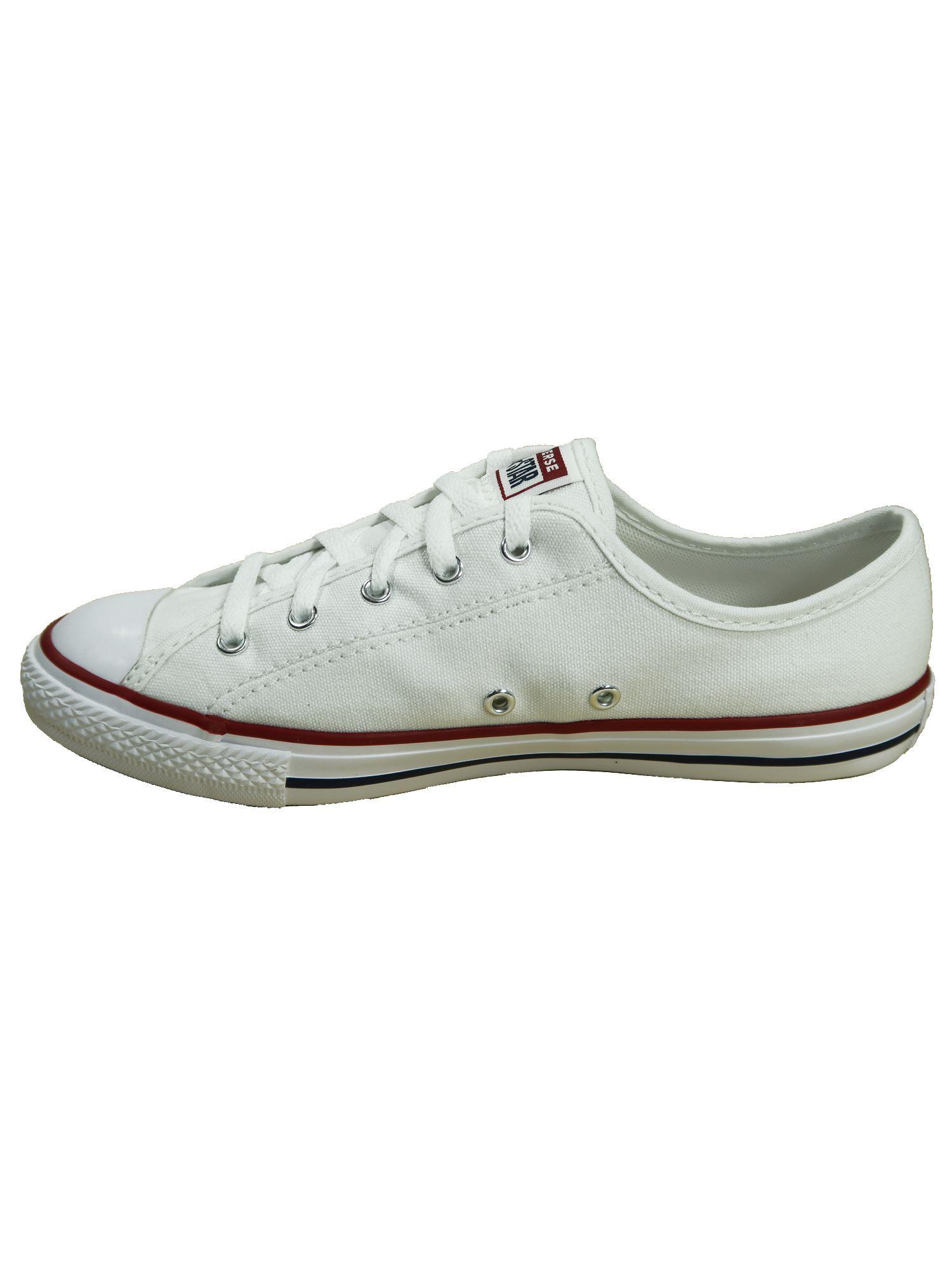 Converse Damen Schuhe CTAS Dainty Ox Weiß Leinen Sneakers Größe 40.5