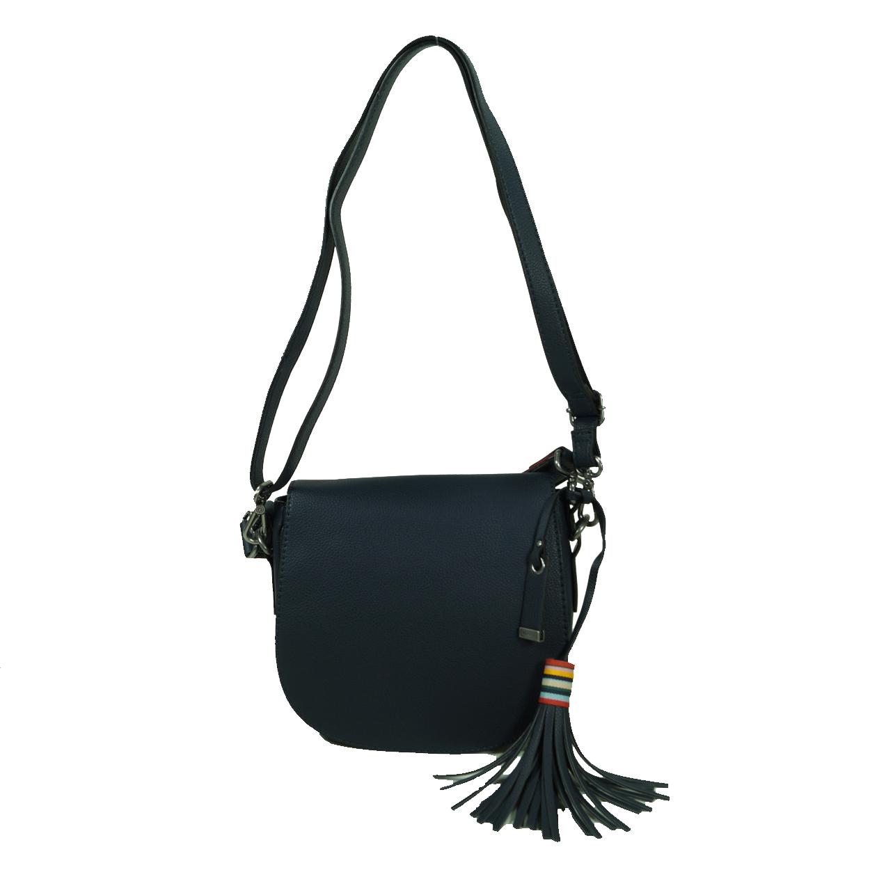 Esprit Wendy Saddlebag Blau Leder Handtasche Schulter Umhange Tasche