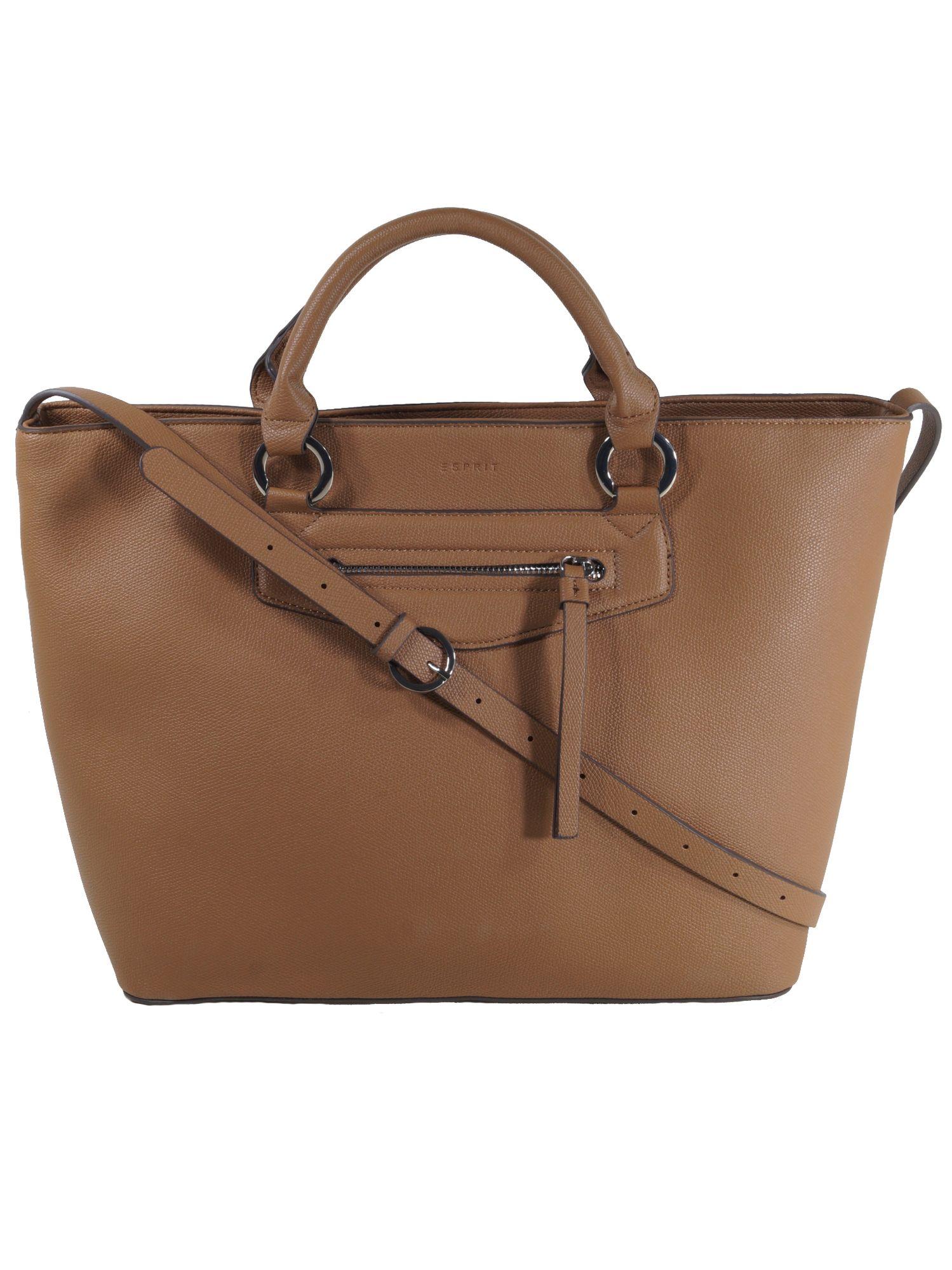 391e8798192a19 Esprit Damen Handtasche Tasche Henkeltasche Kerry Shopper Braun 1 ...