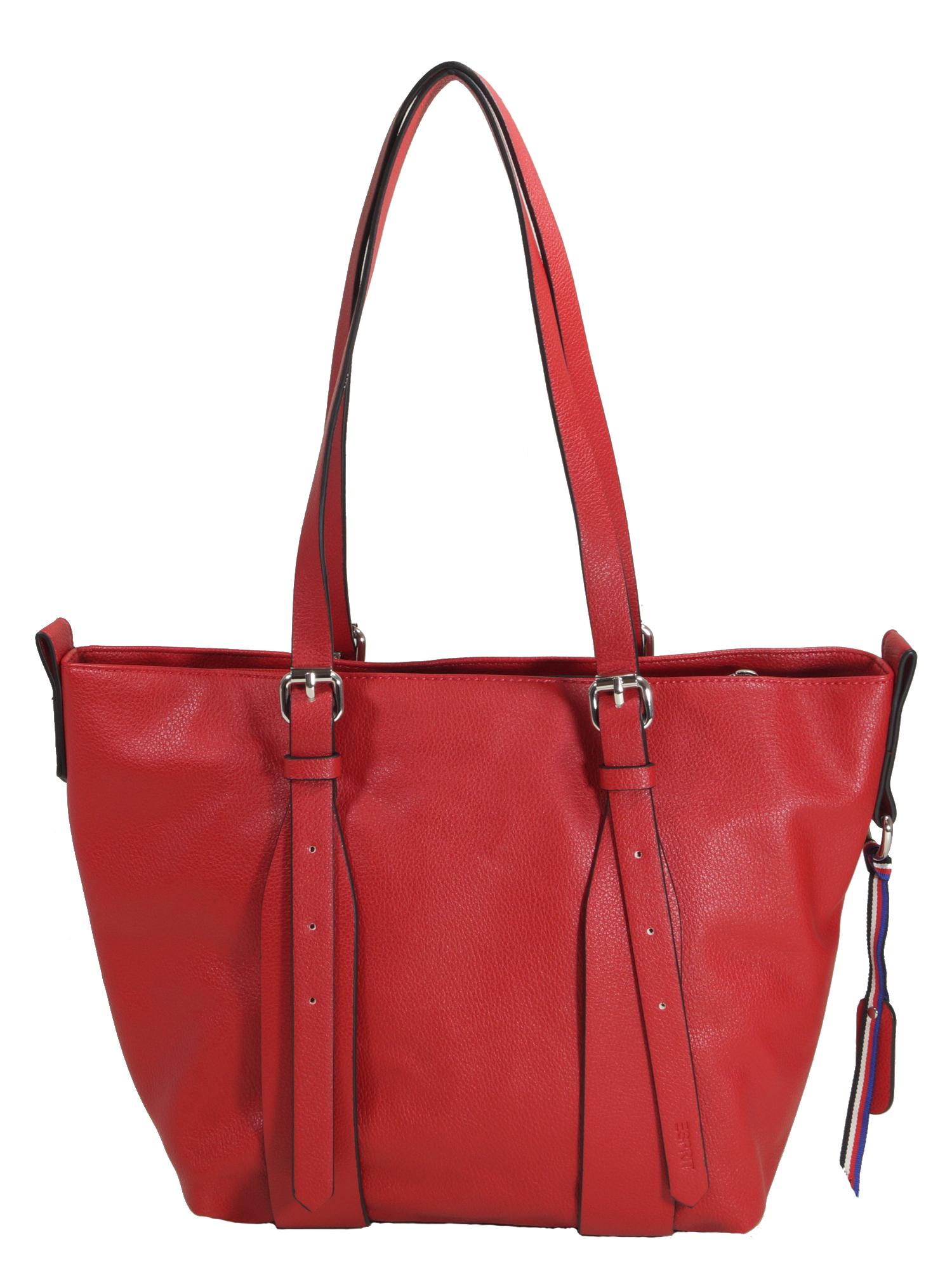 Sortenstile von 2019 Top Qualität Genieße den niedrigsten Preis Esprit Damen Handtasche Tasche Henkeltasche Liz small shopper Rot