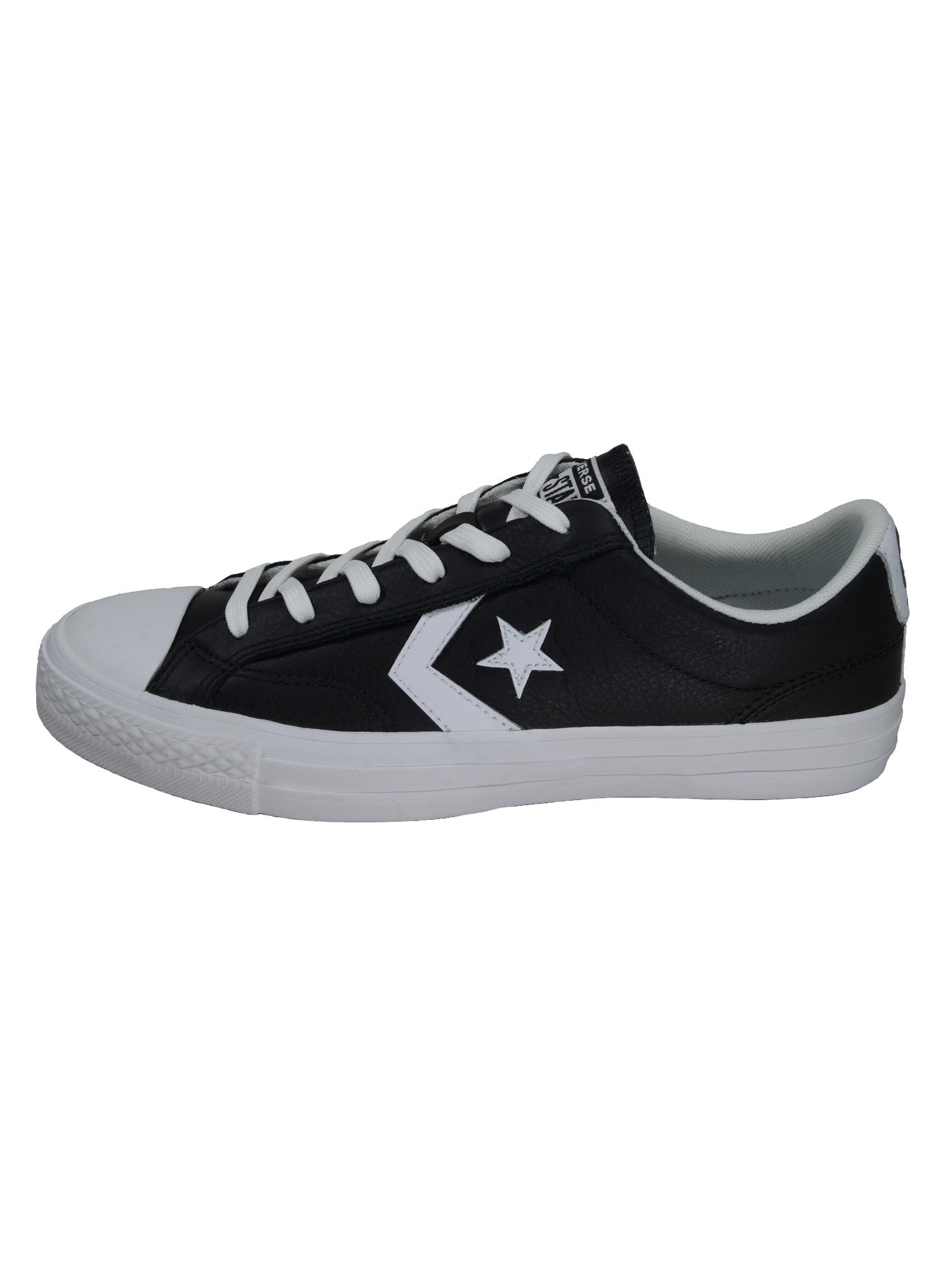 Converse Herren Schuhe Star Player Ox Schwarz Glattleder Sneakers 41 ...