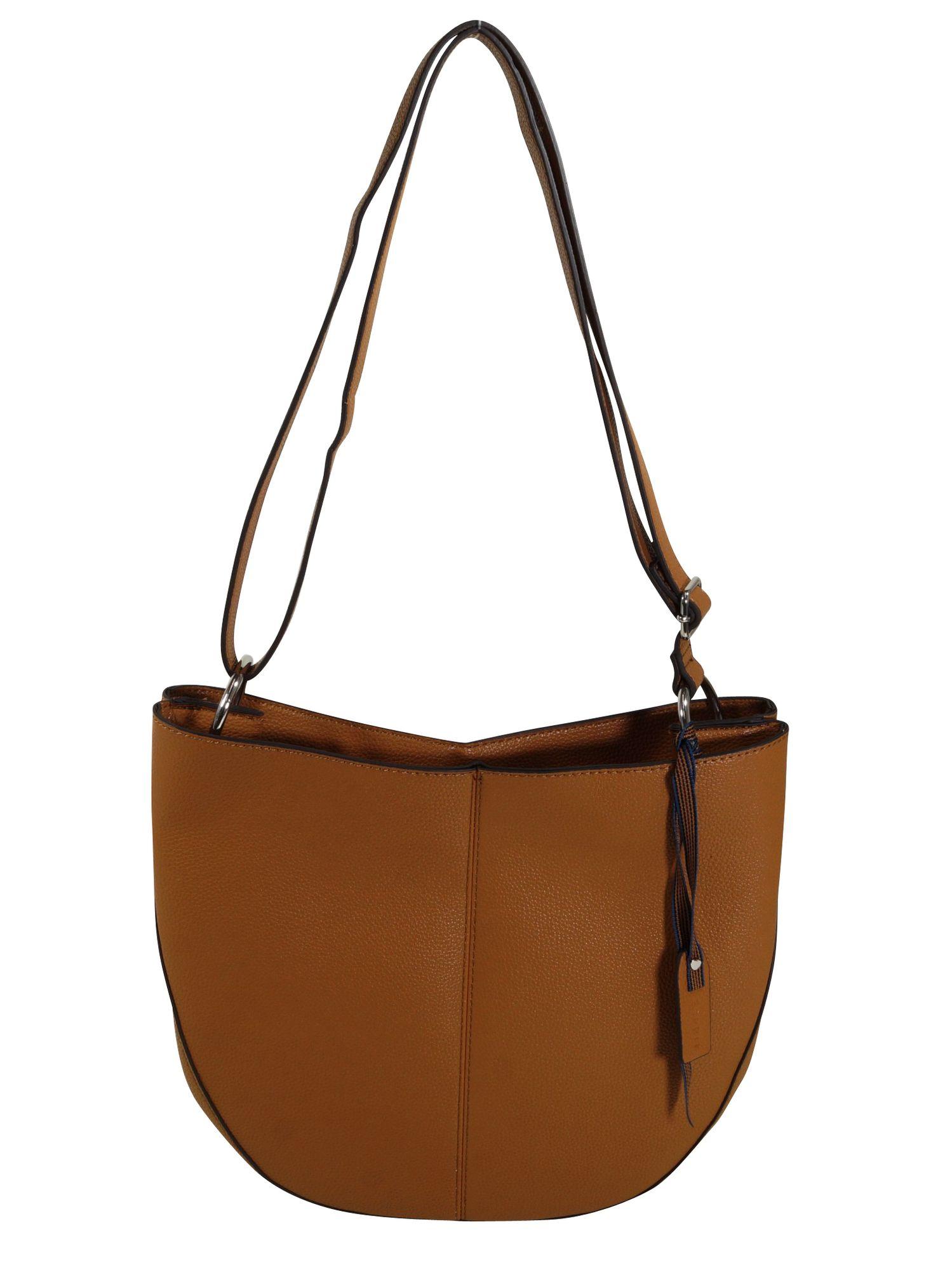 Esprit Damen Handtasche Tasche Schultertasche Nancy Shoulderbag Braun