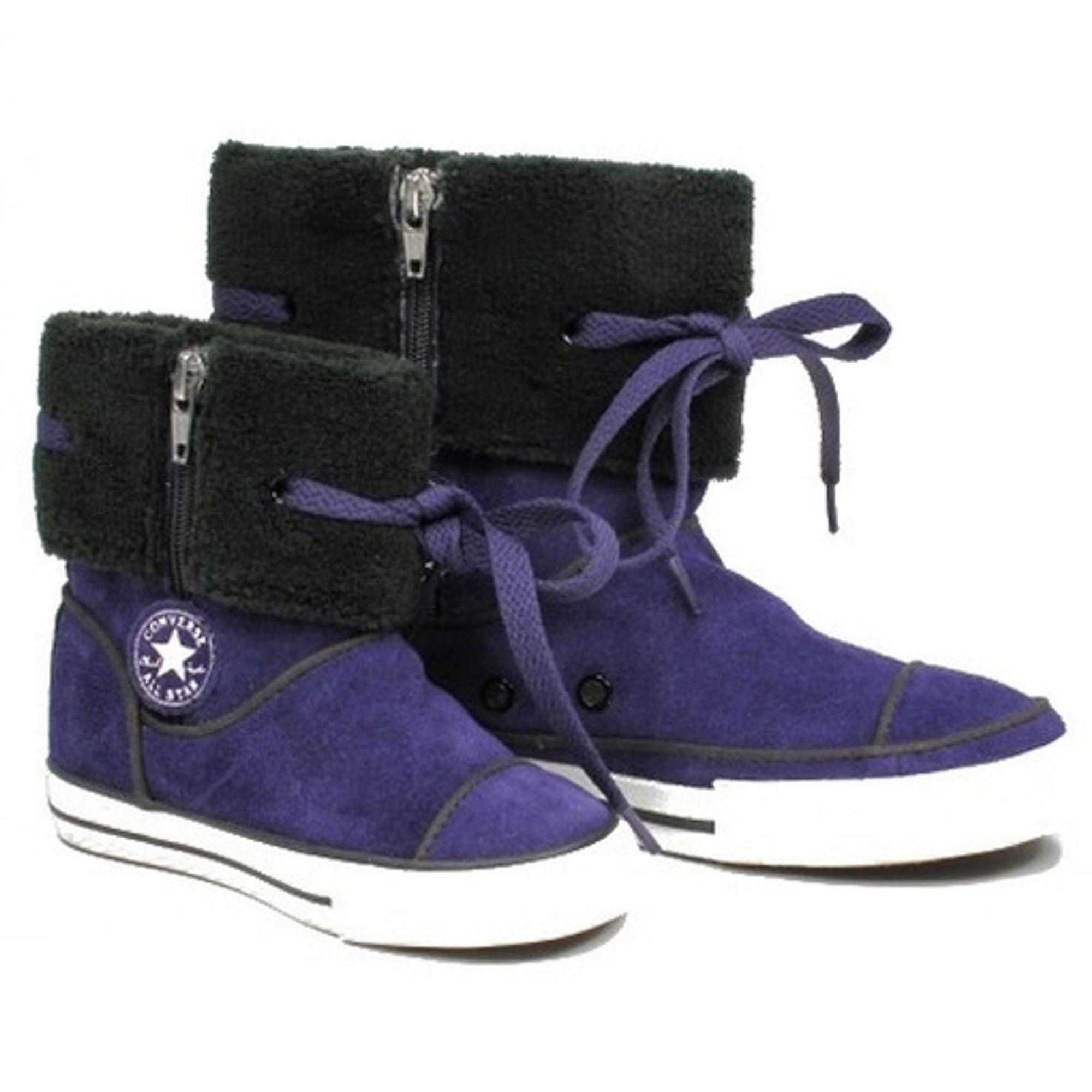 Converse Kinder Schuhe CT ANDOVER 617671 Lila Stiefel Lila Größe 33 lilat-Dunkelgrau-Weiß-Schwarz