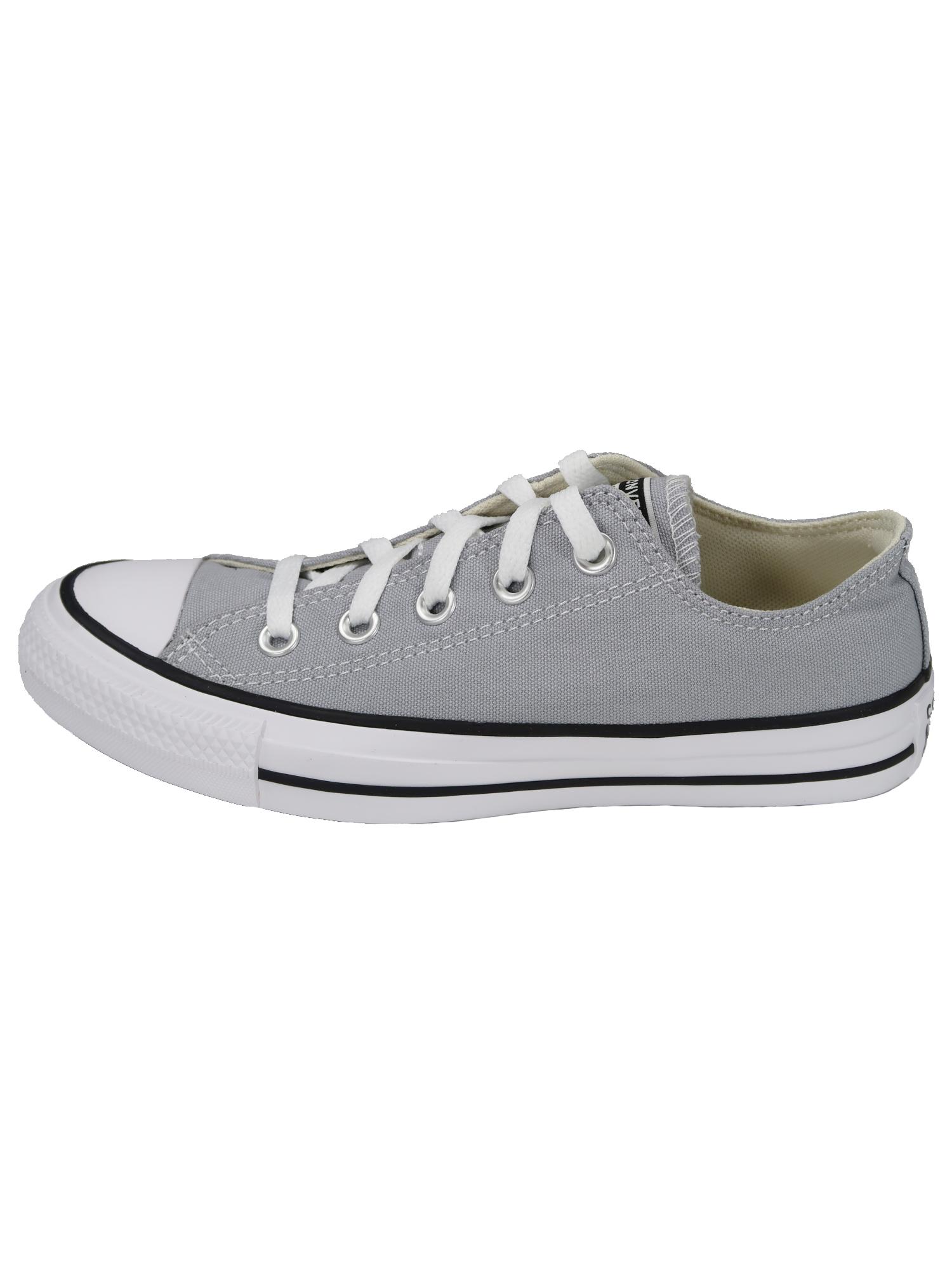 Converse Damen Schuhe CTAS Ox Hellgrau Leinen Sneakers Größe 39.5 EU
