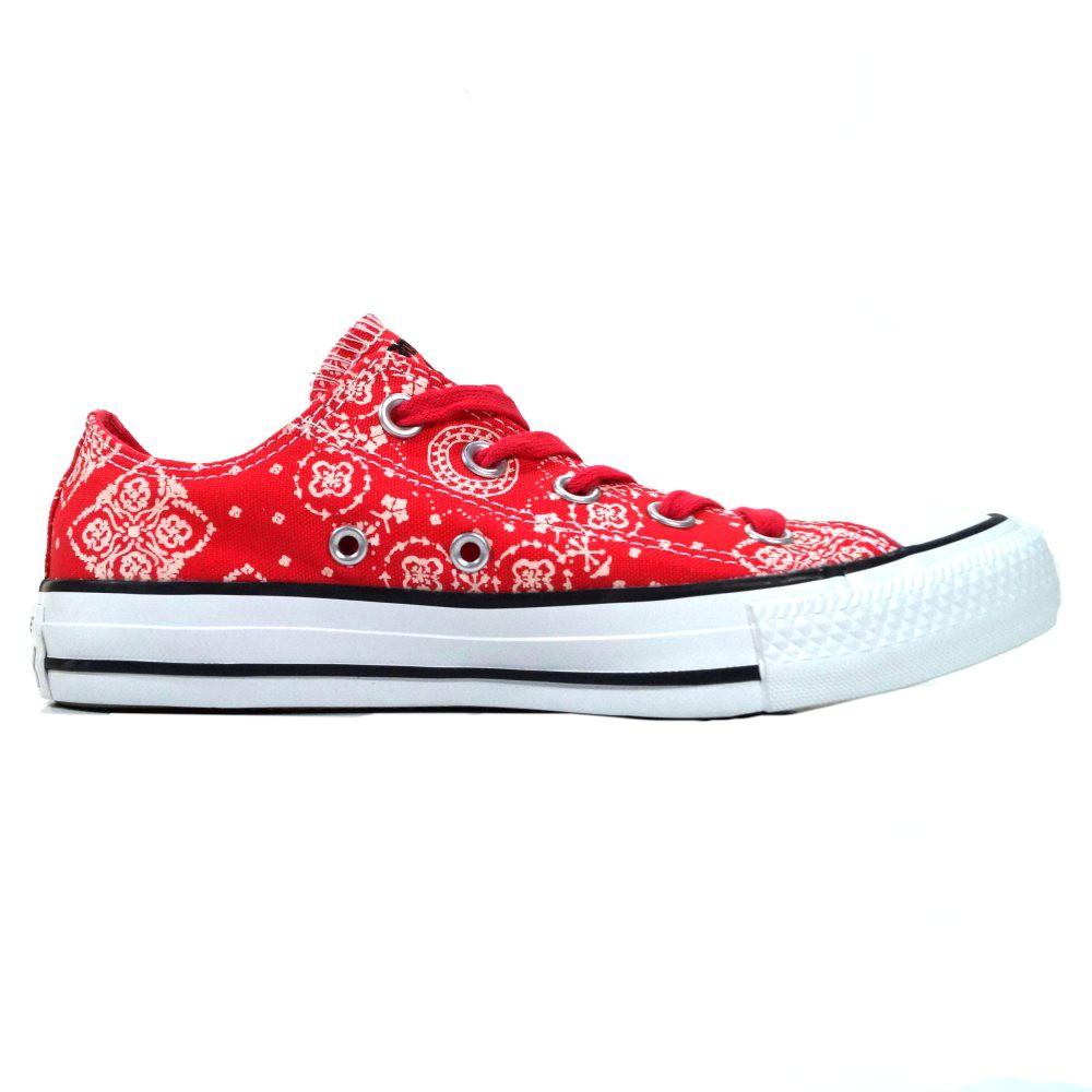 Converse Damen Schuhe CT Ox Koralle Turnschuhe Rot Größe 36, 5 Koralle-Weiß gemustert
