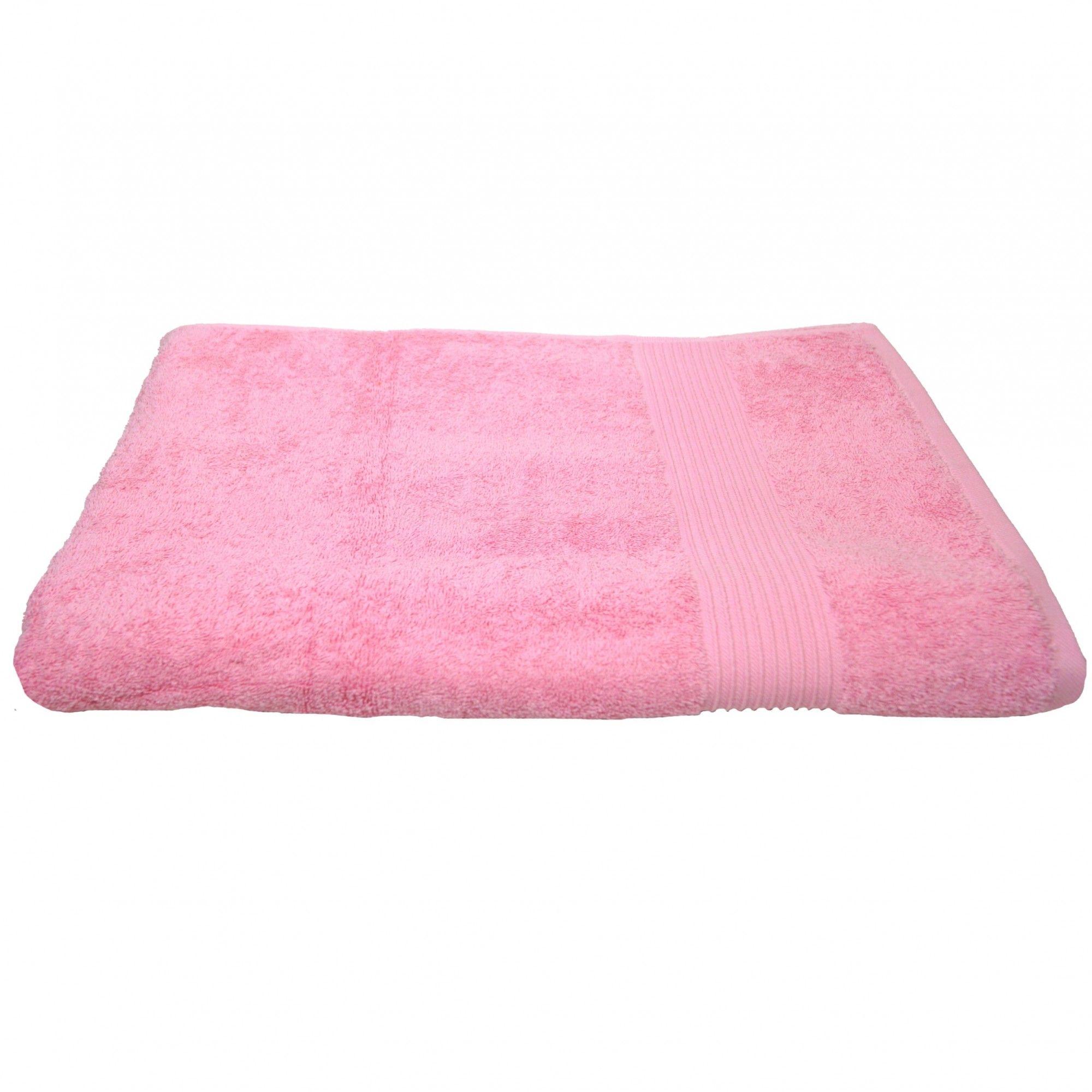Julie Badetuch Rosa Frottee Baumwolle 500gm2 Handtuch 100 X 150 Cm