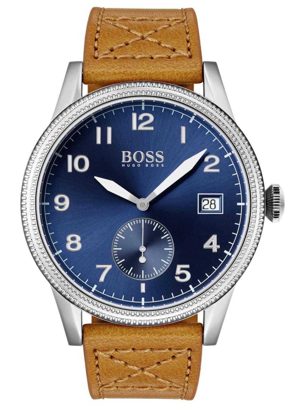 classic styles website for discount nice cheap Hugo Boss 1513668 LEGACY Uhr Herrenuhr Lederarmband Datum Braun