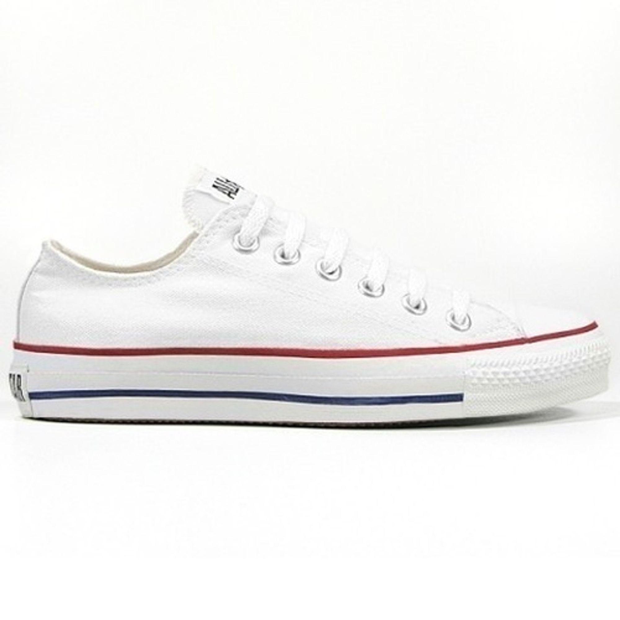 Converse Herren Schuhe All Star Ox Weiß M7652C Turnschuhe Chucks Gr. 45 Weiß