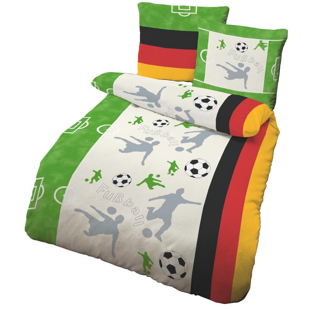 Ido Renforcé Bettwäsche 2tlg Fußball Deutschland Jugend 135x200 Cm
