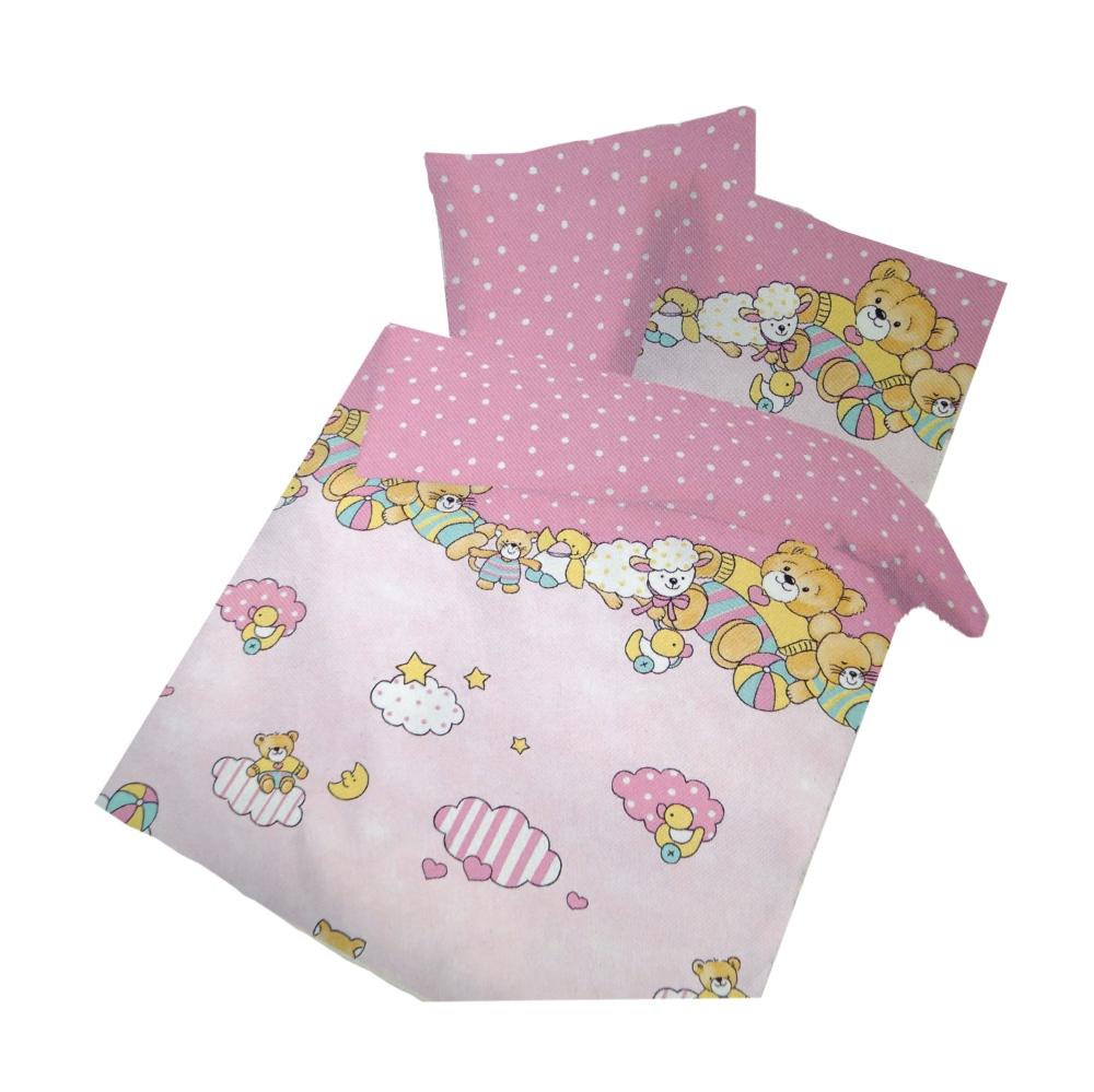 Ido Renforcé Bettwäsche 2tlg Rosa Bären Bettbezug Kinder 100x135 Cm
