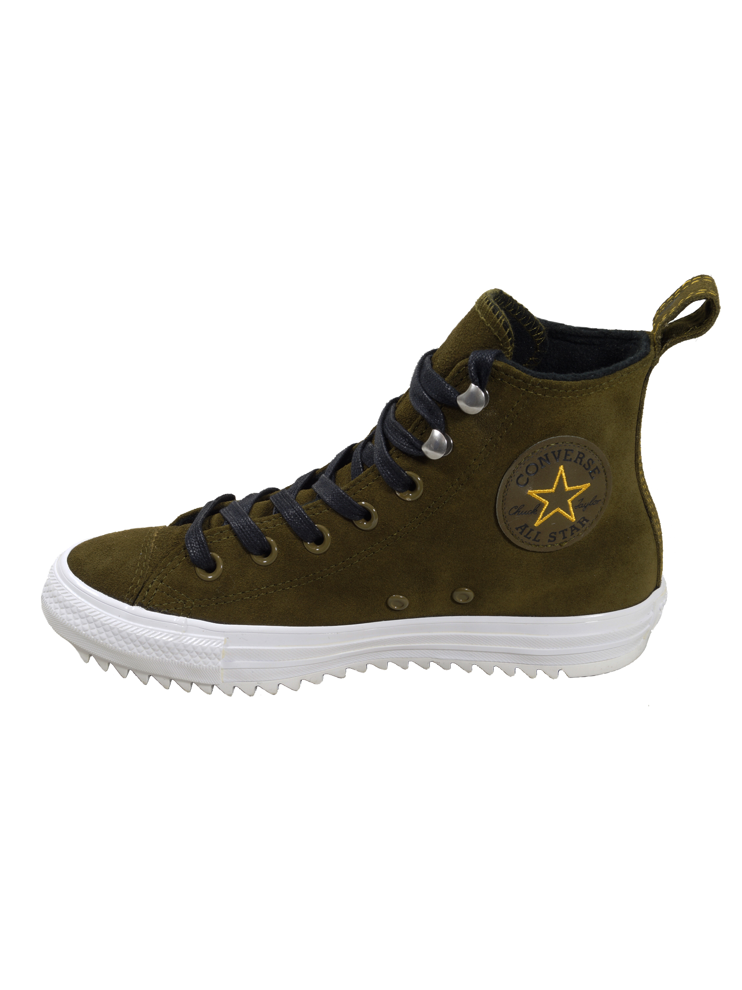 Converse Damen Schuhe CT All Star Hiker Hi Oliv Leder Sneakers 37.5 EU