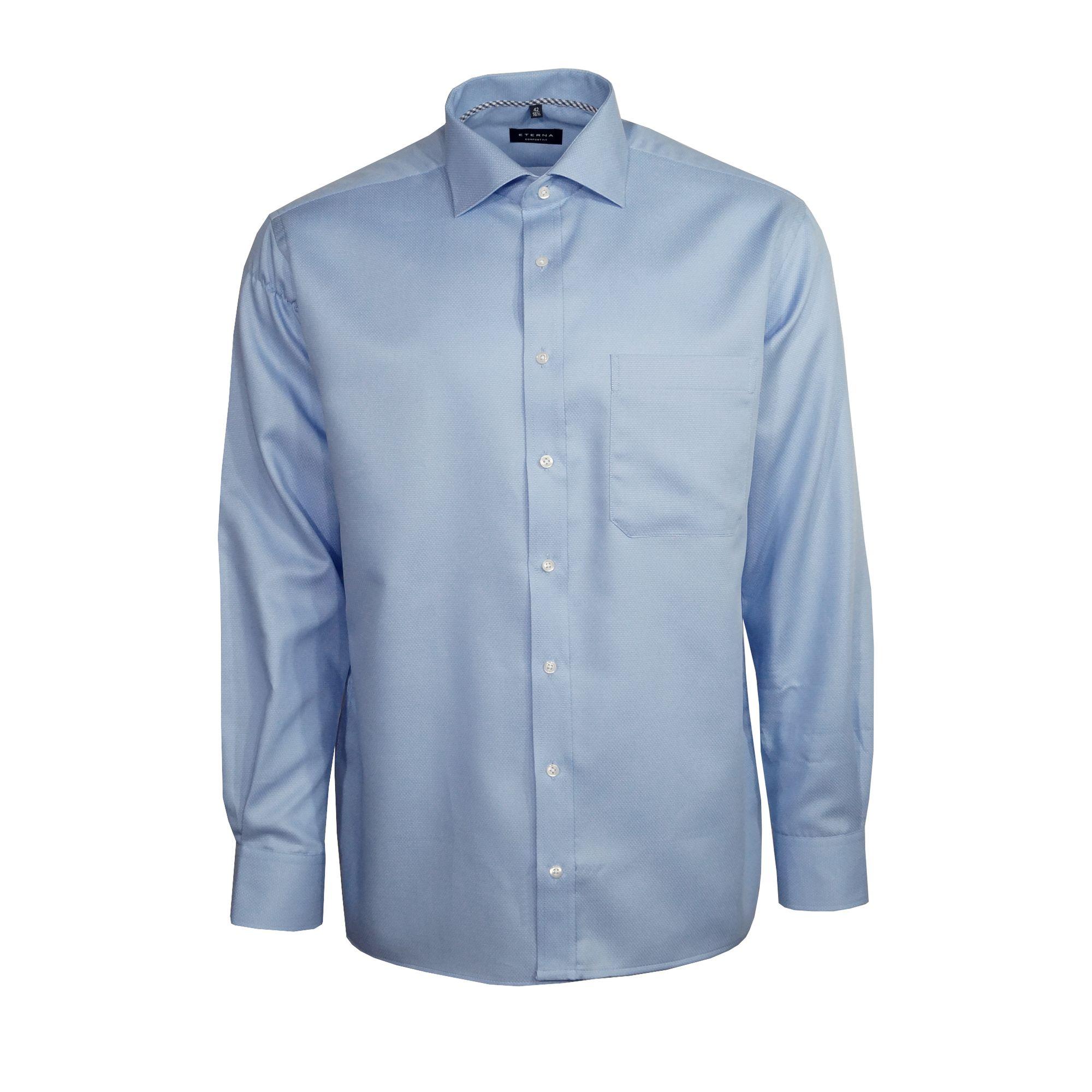 best cheap 8e4f2 95885 Eterna Herren Hemd Langarm Comfort Fit Blau Muster XL/43 8460/12/E187 -  yatego.com