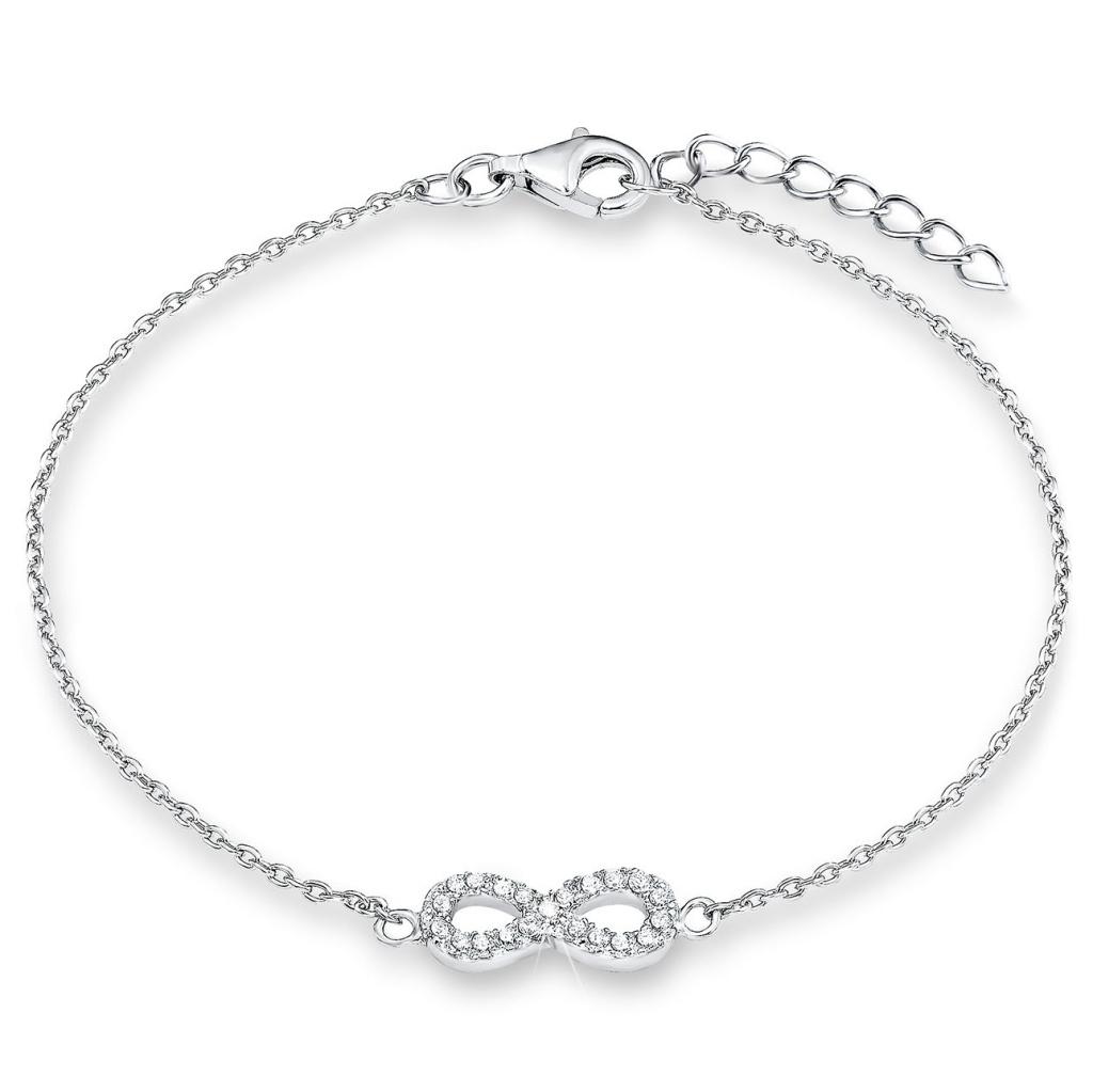 s.Oliver 2018833 Mädchen Armband Infinity Silber Weiß 16 cm - Kaufen ... a9c06e04c5