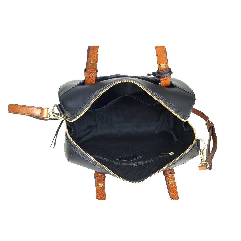 fossil rachel satchel schwarz damen handtasche tasche. Black Bedroom Furniture Sets. Home Design Ideas