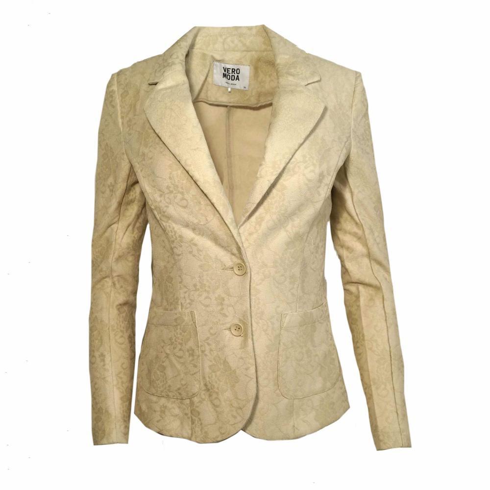 Vero Moda Damen Blazer Jacke BENNO Lace LS Blazer Beige Gr. 34 1 ... 5a6f7689c6