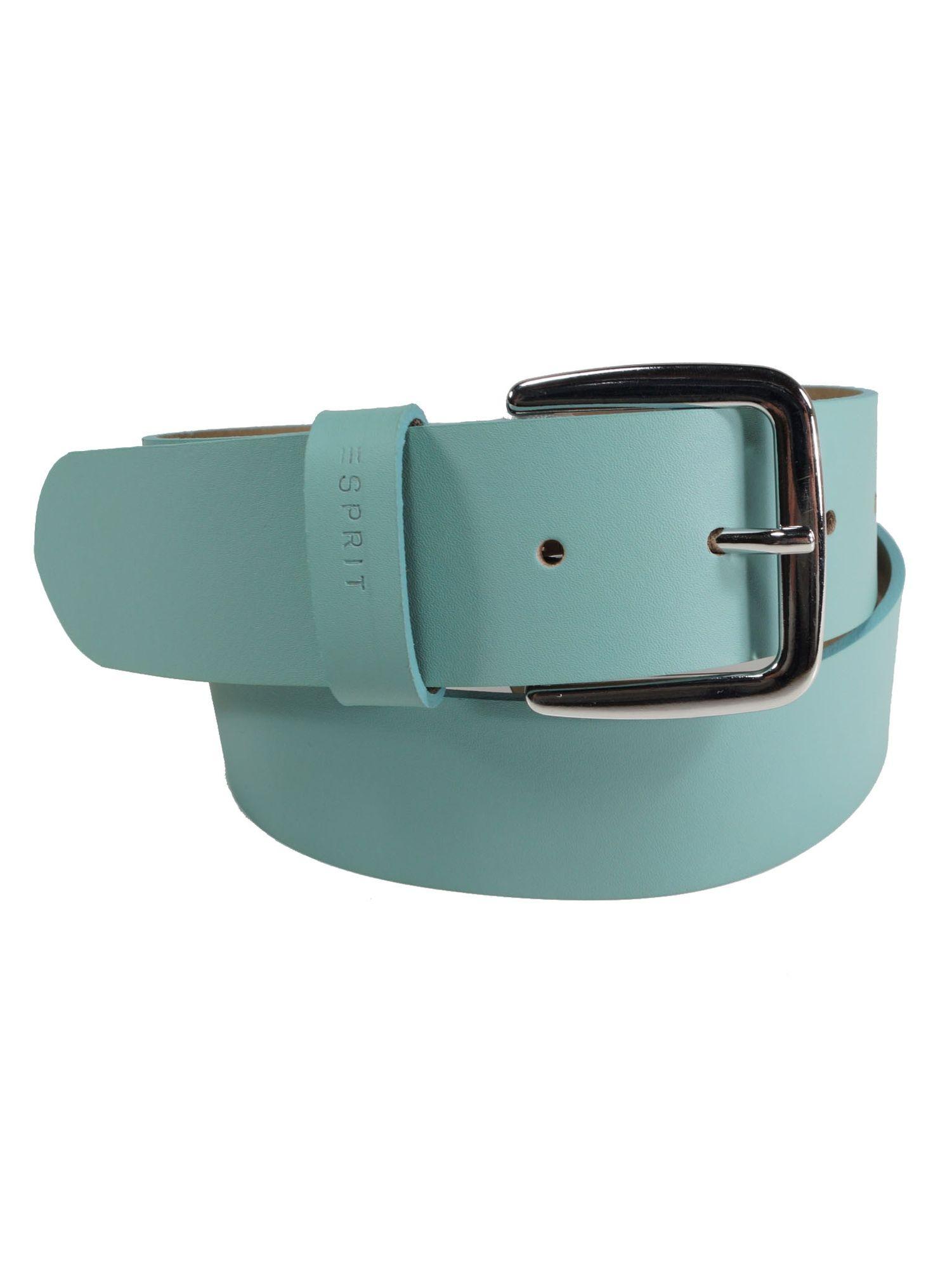 Esprit Damen Gürtel Jeansgürtel New basic belt Leder 80cm Türkis ... 6cb16f6a12