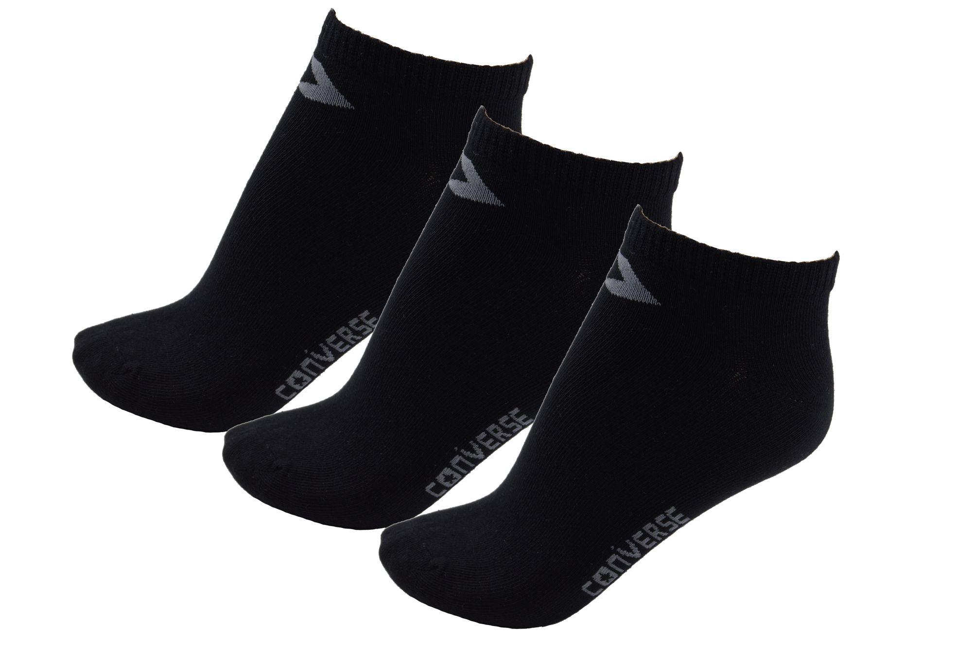 Converse Damen Socken Low Cut 3er Pack Füßlinge Größe 35 38