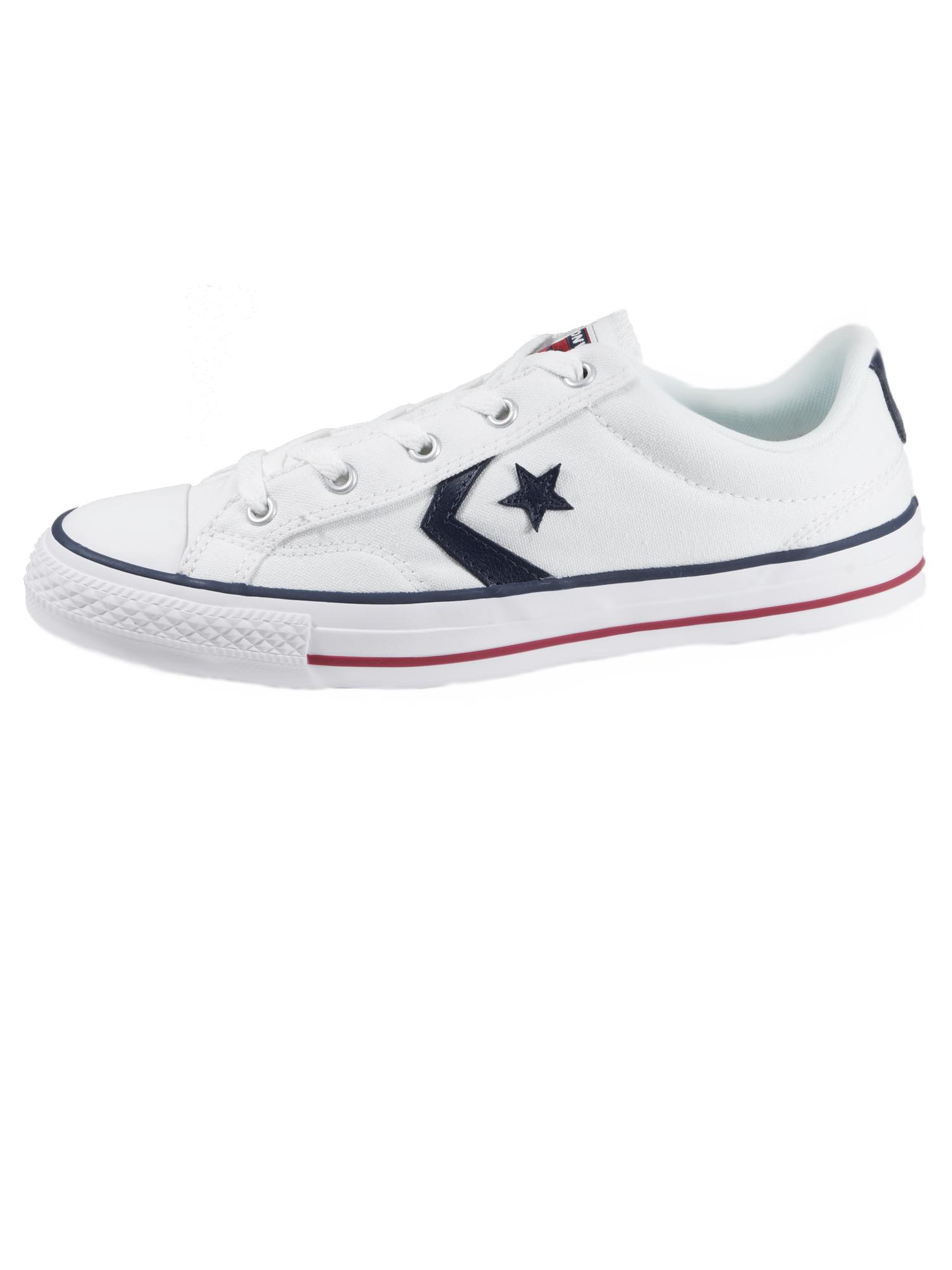 Converse Herren Schuhe Star Player Ox Weiß Leinen Sneakers Gr. 44, 5