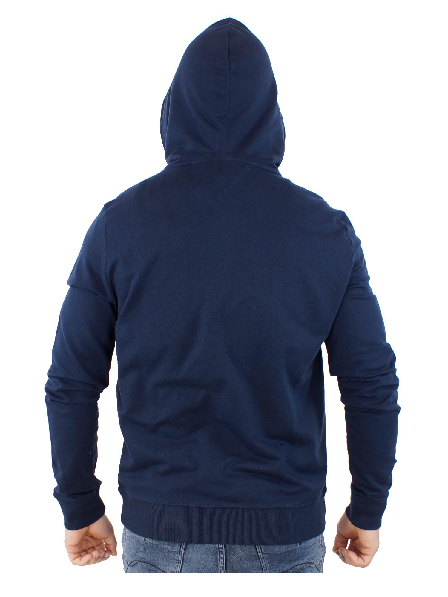 Tommy Hilfiger Jacke Herren Hoodie FZ LWK UM0UM01611 416 Gr. M Blau